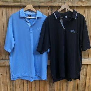 Lot Of 2 Footjoy Mens Golf Polo Shirt Sz XL Logo